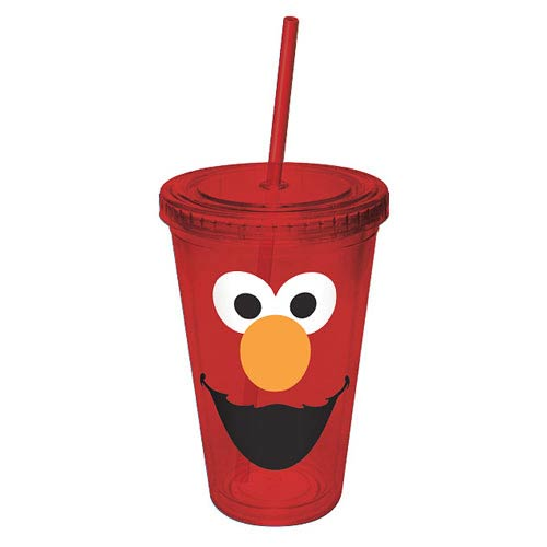 Sesame Street Elmo Big Face Acrylic Travel Cup