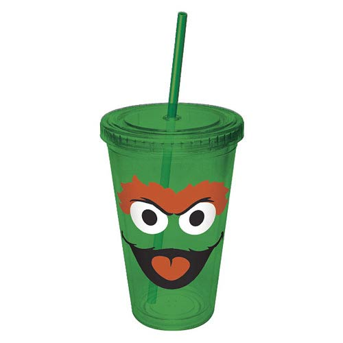 Sesame Street Oscar Big Face Acrylic Travel Cup