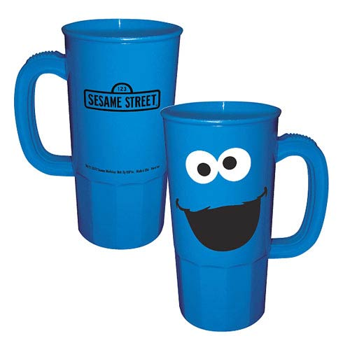 Sesame Street Cookie Monster Big Face Plastic Stein