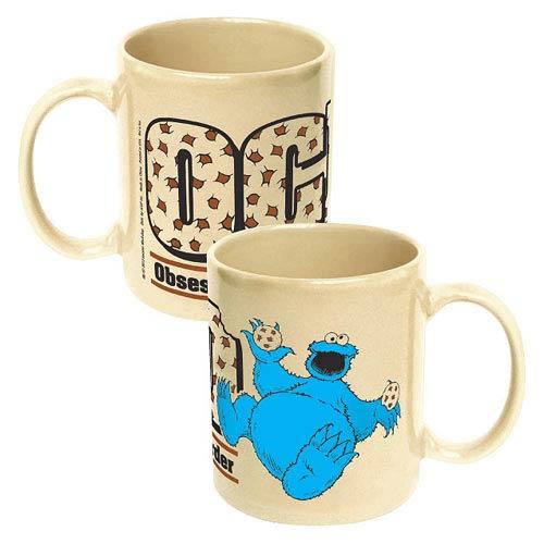Sesame Street Obsessive Cookie Disorder Ceramic Mug