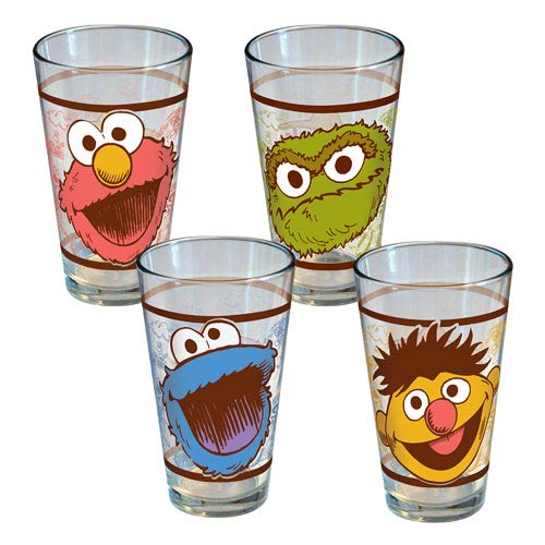 Sesame Street Traits Pint Glass 4-Pack