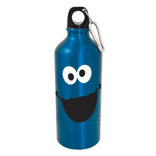 Sesame Street Cookie Monster Big Face Aluminum Water Bottle