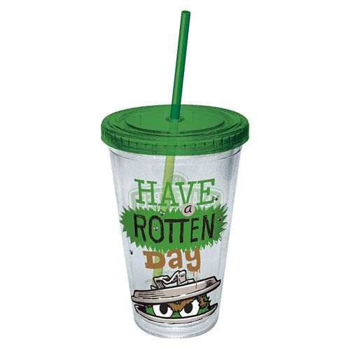 Sesame Street Oscar Have A Rotten Day Plastic Travel Cup