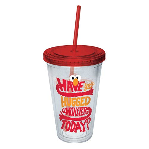 Sesame Street Elmo Hugged A Monster Today Plastic Travel Cup