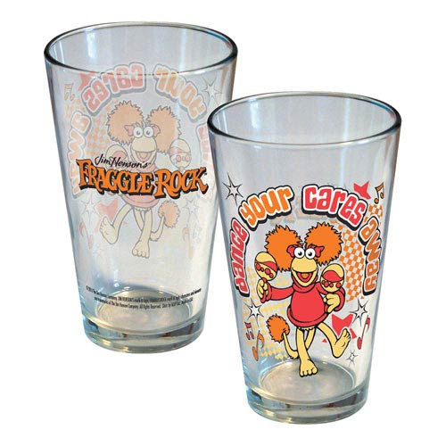 Fraggle Rock Dance Your Cares Away Fancy Pint Glass