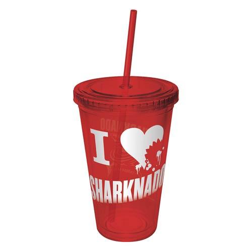 Sharknado I Love (Heart) Sharknado Acrylic Travel Cup