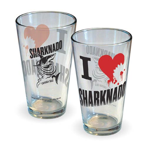 Sharknado I Love (Heart) Sharknado Pint Glass
