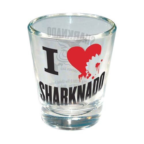 Sharknado I Love (Heart) Sharknado Shot Glass