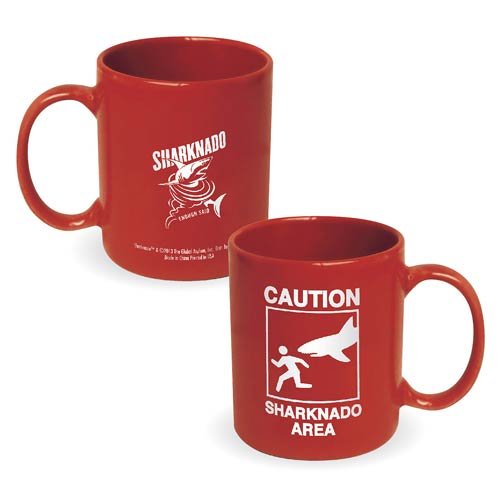 Sharknado Caution Sharknado Area 11 oz. Ceramic Mug