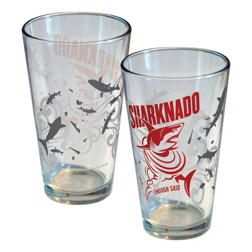 Sharknado Enough Said Pint Glass
