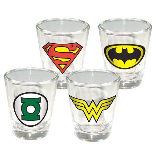 DC Insignia Shot Glass 4-Pack