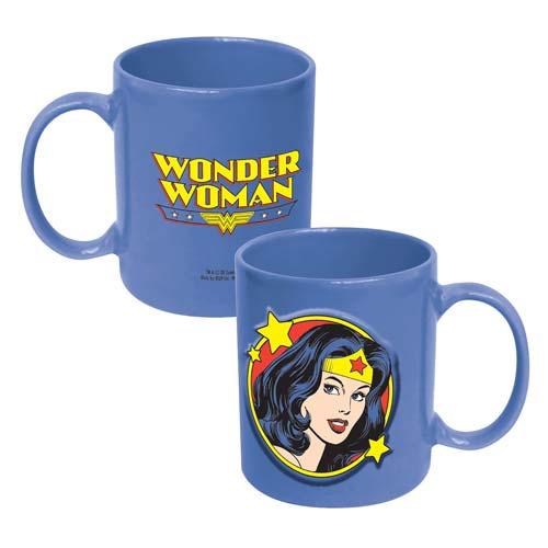 Wonder Woman Face 20 oz. DC Comics Embossed Mug