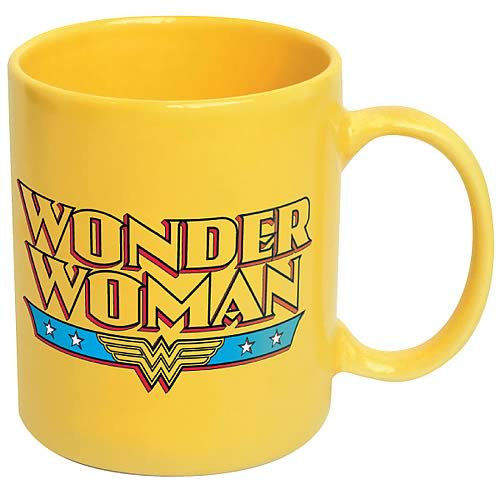 Wonder Woman Logo Yellow Coffee Mug