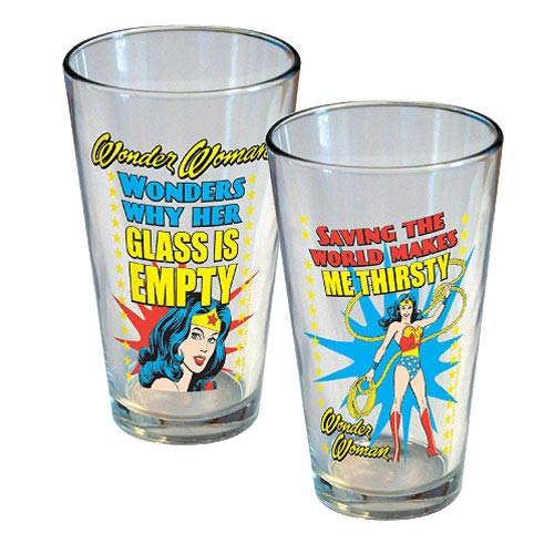 Wonder Woman Pint Glass 2-Pack