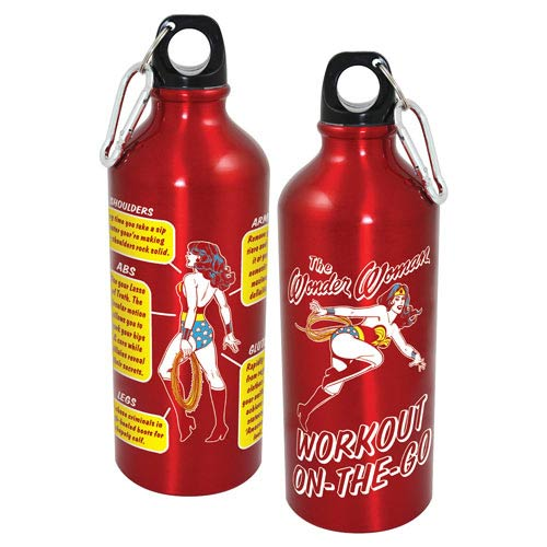 Wonder Woman Workout On-The-Go Aluminum Water Bottle