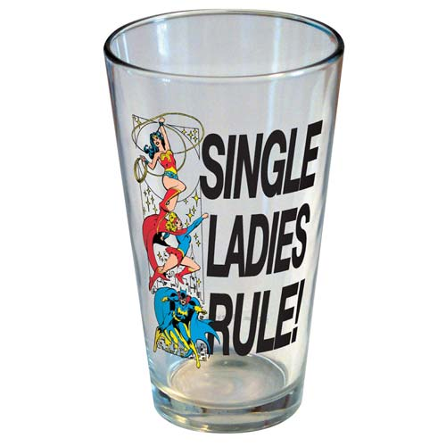 DC Comics Single Ladies Rule Pint Glass
