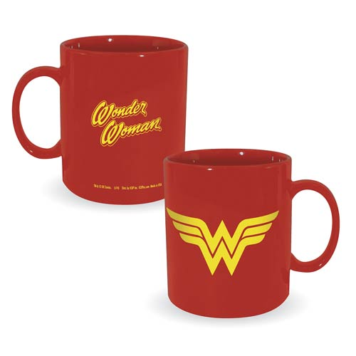 Wonder Woman Logo 30 oz. DC Comics Ceramic Mug