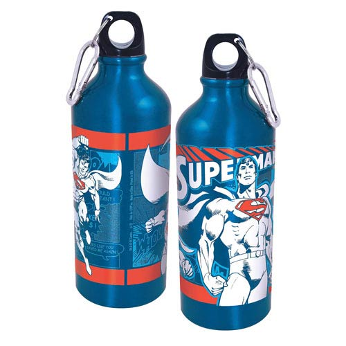 Superman Collage Aluminum Water Bottle