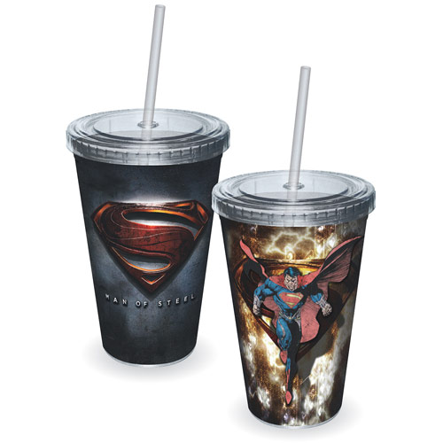 Superman Man of Steel Movie Logo Acrylic Travel Cup