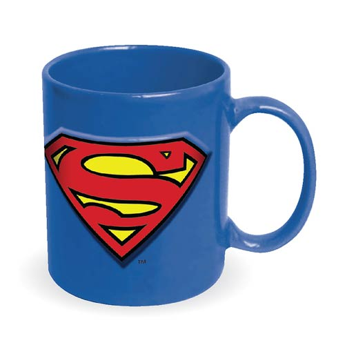 Superman Embossed Logo 20 oz. DC Comics Ceramic Mug