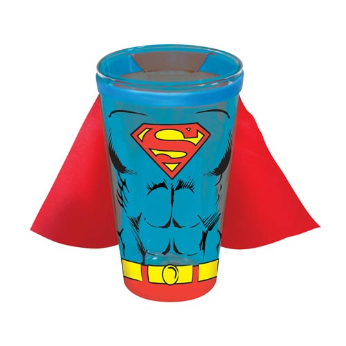 Superman Caped Colored Pint Glass