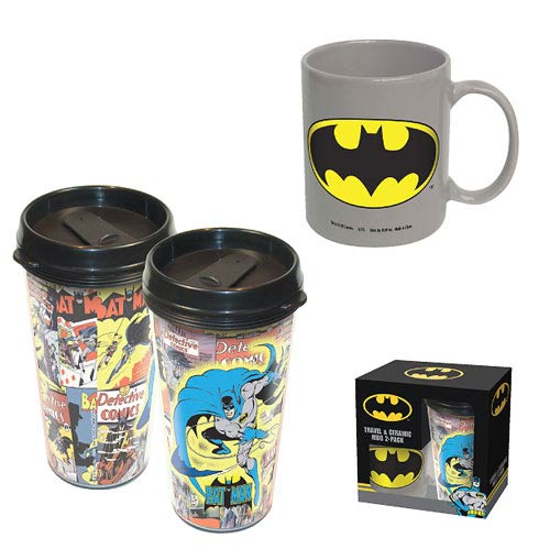 Batman Acrylic Travel Mug and Ceramic Mug 2-Pack