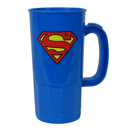 Superman Logo DC Comics 22 oz. Plastic Stein