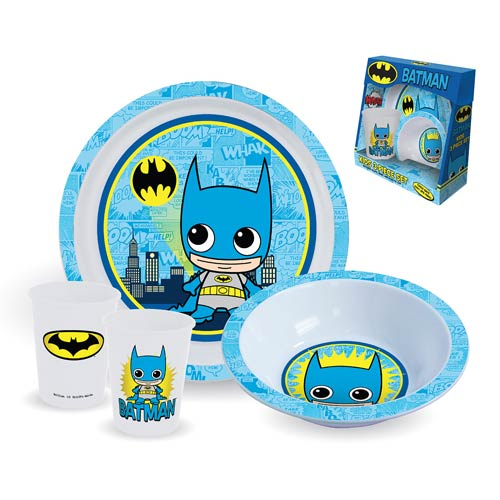 Batman Plate, Bowl, and Cup 3-Piece Kids Set