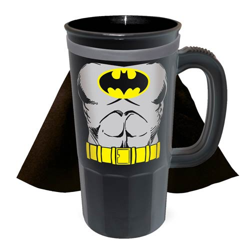 Batman DC Comics Caped Plastic Stein