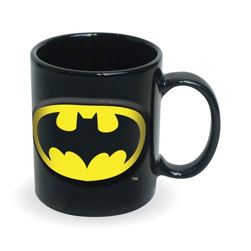 Batman Embossed Logo 20 oz. DC Comics Ceramic Mug
