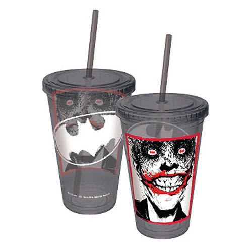 Batman The Joker DC Comics Gray Acrylic Travel Cup