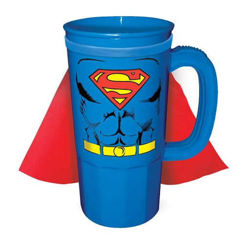 Superman DC Comics Caped Plastic Stein