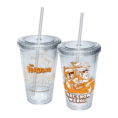 The Flintstones That's How We Roll Acrylic Travel Cup