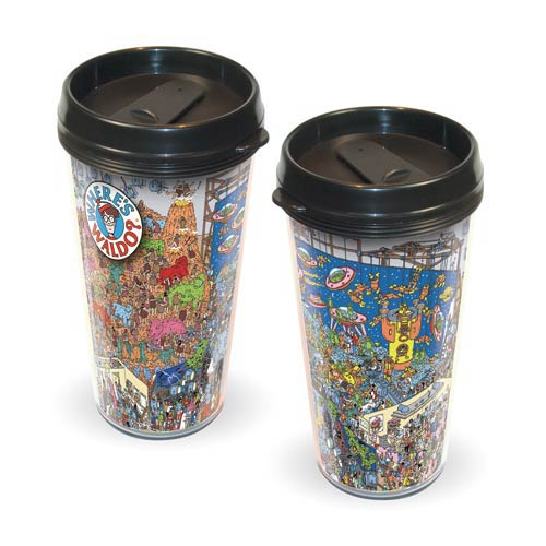 Where's Waldo? Dinosaur and Spaceman Travel Mug