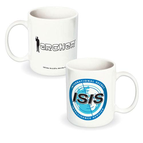 Archer ISIS Logo White Ceramic Mug