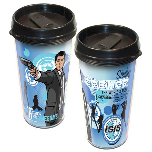 Archer the World's Most Dangerous Spy Travel Mug