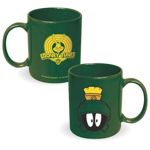 Looney Tunes Marvin the Martian Face Green Mug