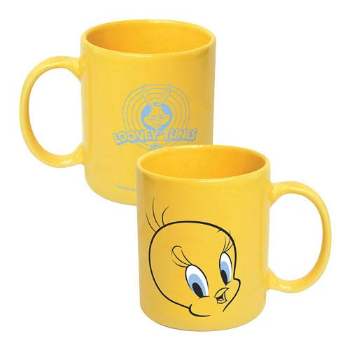 Looney Tunes Tweety Bird Face Yellow Mug