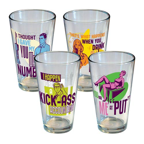 Archer Statements Pint Glass 4-Pack