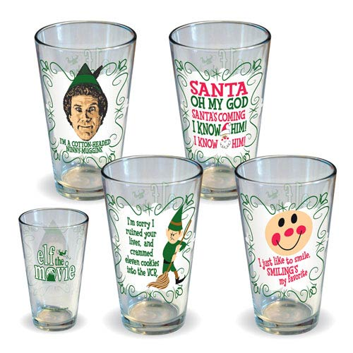 Elf Quotes Pint Glass 4-Pack