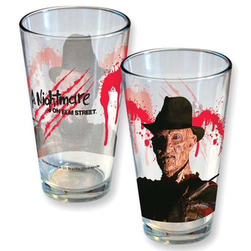 Nightmare On Elm Street Freddy Slash Pint Glass