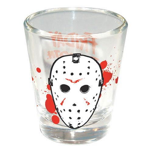 Friday the 13th Jason Hockey Mask Shot Glass