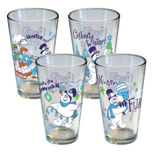 Frosty The Snowman Winter Pint Glass 4-Pack
