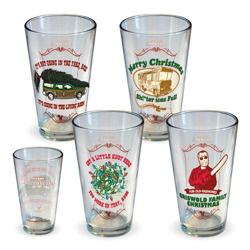 National Lampoon Christmas Vacation Pint Glass 4-Pack