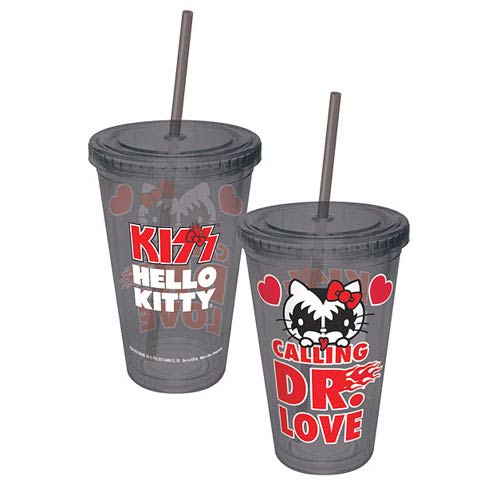 Hello Kitty KISS Calling Dr. Love Acrylic Travel Cup