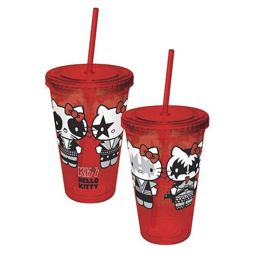 Hello Kitty KISS Destroyer Poses Acrylic Travel Cup