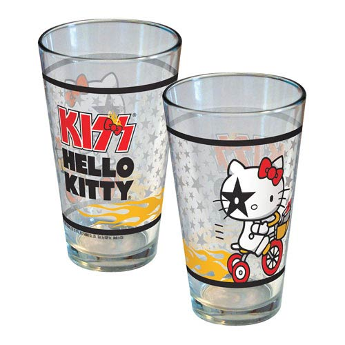 Hello Kitty KISS Tricycle Pint Glass