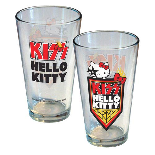 Hello Kitty KISS Army Pint Glass