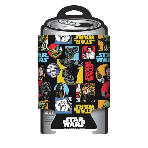 Star Wars Retro Comic Pattern Can Hugger