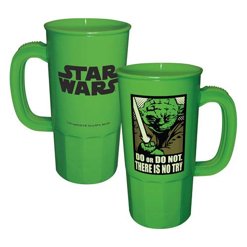 Star Wars Yoda Do or Do Not There Is No Try Plastic Stein